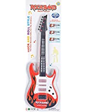 Fashion Hut Music Toy Guitar, Red and Black for Kids
