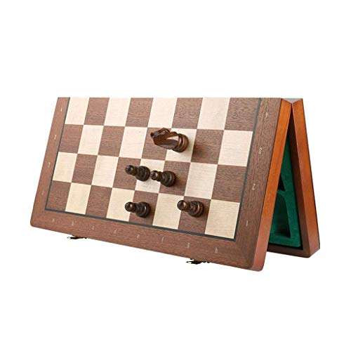 IG Chess Set Wooden Magnetic Chess Set with Folding Chess Board, Chess Pieces &Amp; Storage Box - Chess Set Wood Board Game Chess,40Cm