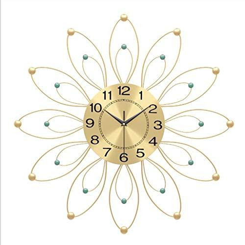 SQL Wanduhren Modern, Metall, Wanduhr, Luxuxblume Wanduhr Wohnzimmer, Schlafzimmer, Hauptwand Art Deco Flower-förmige Uhr (Gold)