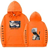 Galgsong Sudadera con Capucha Naruto Impresa en 3D para Hombre Anime Japonés Naruto Manga Cosplay Jumper Yondaime Hokage Itachi Cloak Pullover Sweatshirt-A_Medium