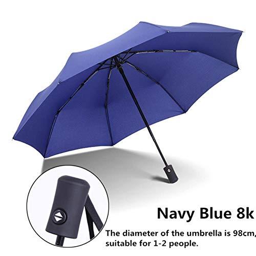 Xmjj Waterdichte Volledige Automatische Paraplu Vouwen Licht en Duurzame Super Sterke Paraplu's