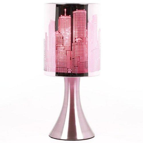 Maison Futée - Lampe Touch New-York City avec variateur de lumière Modèle Rose