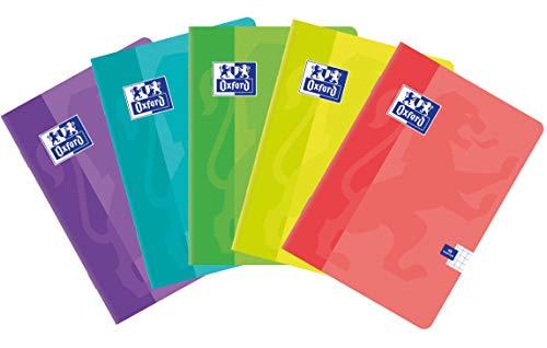 Oxford 400079722Sweet A5–Cincel 32hojas, multicolor doble línea, paquete de 10unidades colores Mix