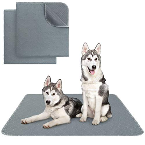 KOOLTAIL Washable Pee Pads for Dogs - Waterproof Dog Mat Non-Slip Puppy Potty Training Pads, Reusable Whelping Pads for Dog Crate PlayPen