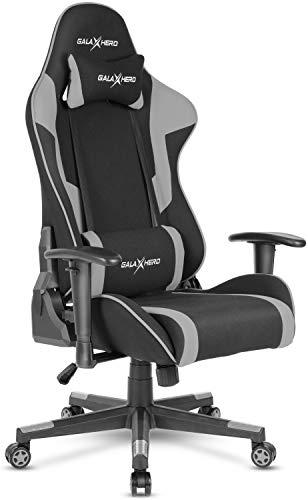 GALAXHERO ゲーミングチェア げーみんくチェア eスポーツ用椅子 165度リクライニング 一年無償部品交換保証 通気性 ファブリック ADJY601GR