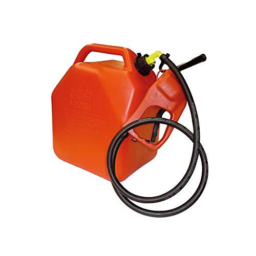 Certeo Kunststoffkanister für Kraftstoffe | 25 l | Handpumpensystem | Rot | Benzinkanister Dieselkanister Ersatzkanister Leerkanister Pumpe