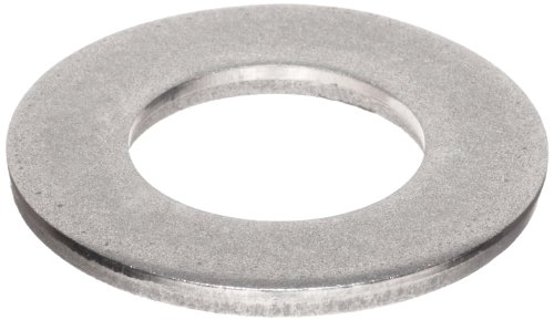 316 Stainless Steel Flat Washer, Plain Finish, Meets DIN 125, M20 Hole Size, 21mm ID, 37mm OD, 3mm Nominal Thickness (Pack of 10)