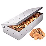 LDXZPX Smoker Box for Grill BBQ Wood Chips,Stainless Steel Smoking Box-Grilling Accessory for Gas or Charcoal Grills (Silver)