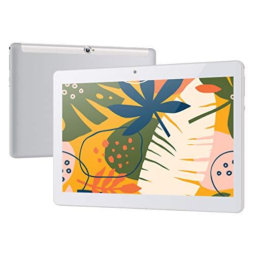 Tablet 10 Zoll Android 8.1 Tablet PC Qimaoo 3G Tablets mit 1 GB RAM Quad Core 16 GB ROM IPS HD (1280 x 800), Dual SIM/Kamera 2MP+5MP, Unterstützung WiFi/GPS/Bluetooth/OTG