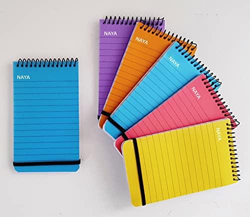 Note Pads NAYA Spiral Pocket Notebook, Writing or Jotting Notes, Plastic...