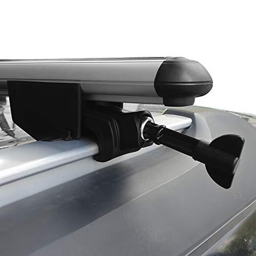 accessorypart Para Audi A3 Sportback 2004-2013 Barras de techo Con Cerradura Aluminio Gris