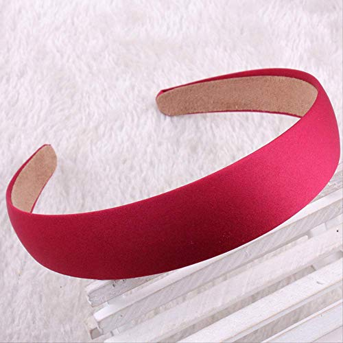 Hot Sales Fashion Wide Headband Solid Bezel Hairbands Satin Covered Hair Accessories For Woman Girls