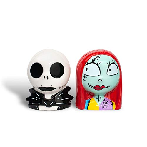 Official 'The Nightmare Before Christmas' Salt and Pepper Shakers | Jack and Sally Shaker Set