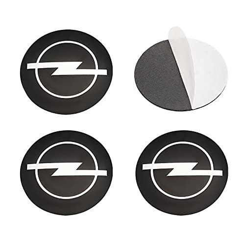 56 mm - Tapacubos de coche para Opel Astra h g j k f Zafira a b Corsa b c d Mokkav Insignia Vectra (nombre del color: Opel Center sticker)