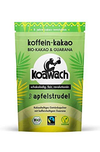 koawach Typ Apfelstrudel Kakaopulver mit Koffein aus Guarana Koffein Kakao - Bio, vegan und Fair Trade 500g