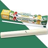 Compostable Film Transparente con Dispensador, 100% Cling Film Biodegradable Certificada| No...