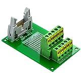 CZH-LABS IDC-10 módulo de placa de desmontaje del conector de cabecera macho, paso IDC 0.15', paso del bloque de terminales 0.5 cm