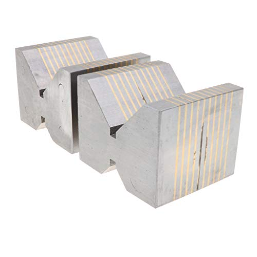 Milageto Stahl Induktionsblock Paar 1 Paar / 1 Stück V Block Hochpräzise - wie beschrieben, 36V
