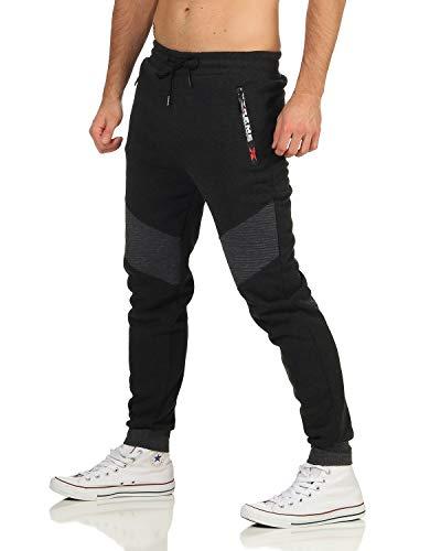 ZARMEXX Herren Jogging Hose Jogger Streetwear Sporthose Trainingshose Fitnesshose Sweatpants Freizeit Pants-Mod. 2010-grau-L