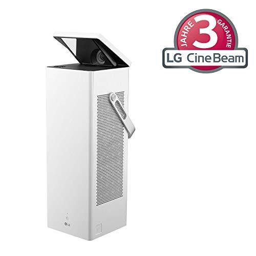 LG Beamer HU80KSW Presto bis 381 cm (150 Zoll) CineBeam Laser 4K UHD Projektor (2500 Lumen, Laser 20000, HDR10, smarte Funktionen) weiß