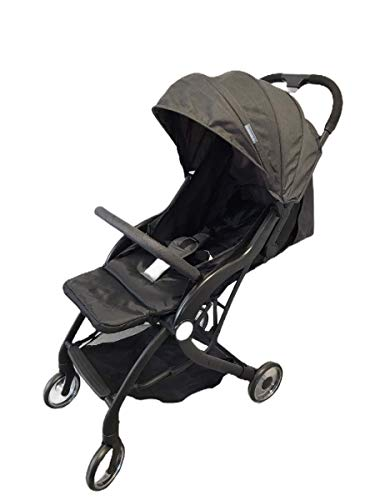 Compact Lightweight New Born Baby Travel Basket Car Seat Stroller Pram Buggy Pushchair One Hand Tri-Fold (Black Pushchair)