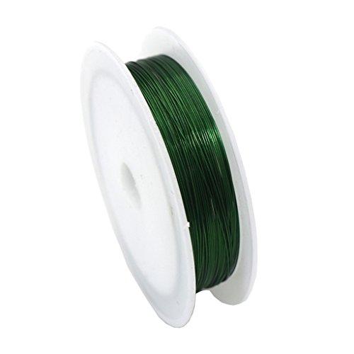 Harilla 11 Yardas/Rollo de Alambre de Hierro de Metal Artesanal para Envolver Cuentas de Alambre Cuerda Artesanía de Bricolaje - Verde, Individual