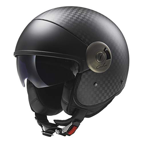 LS2 Helmets Open Face Cabrio Carbon Fiber Motorcycle Helmet (Black - Small)