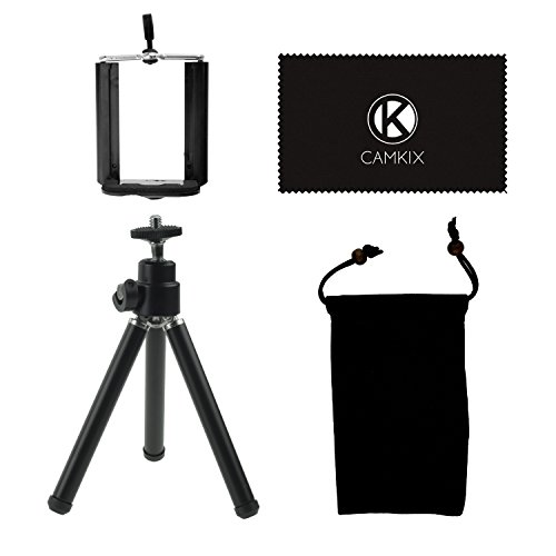 Tripod Kit - Universal Adjustable Including Tripod/Universal Phone Holder/Velvet Phone Bag/Microfiber Cleaning Cloth - Suitable for iPhone, Samsung and Most Other Phones