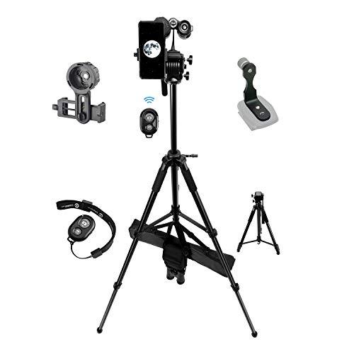 Professional 70-inch Binoculars Photographing Kit with 70-inch Binoculars Tripod, Binoculars Tripod Adapter, Binoculars Phone Adapter
