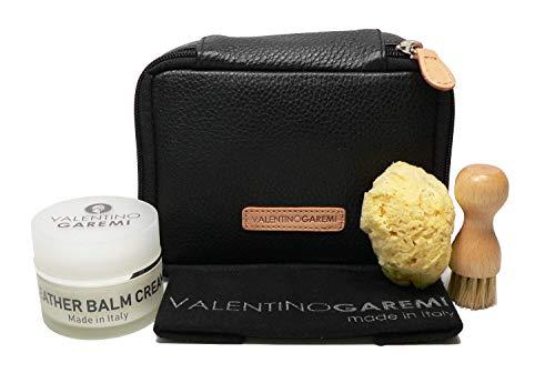 Valentino Garemi Luxuriöses Lederpflegeset – Ultimatives Geschenk zur Pflege von Designer-Namen, Geldbörsen, Taschen, Schuhen, Kleidungsstücken – Pflege und Kondition – Made in Italy