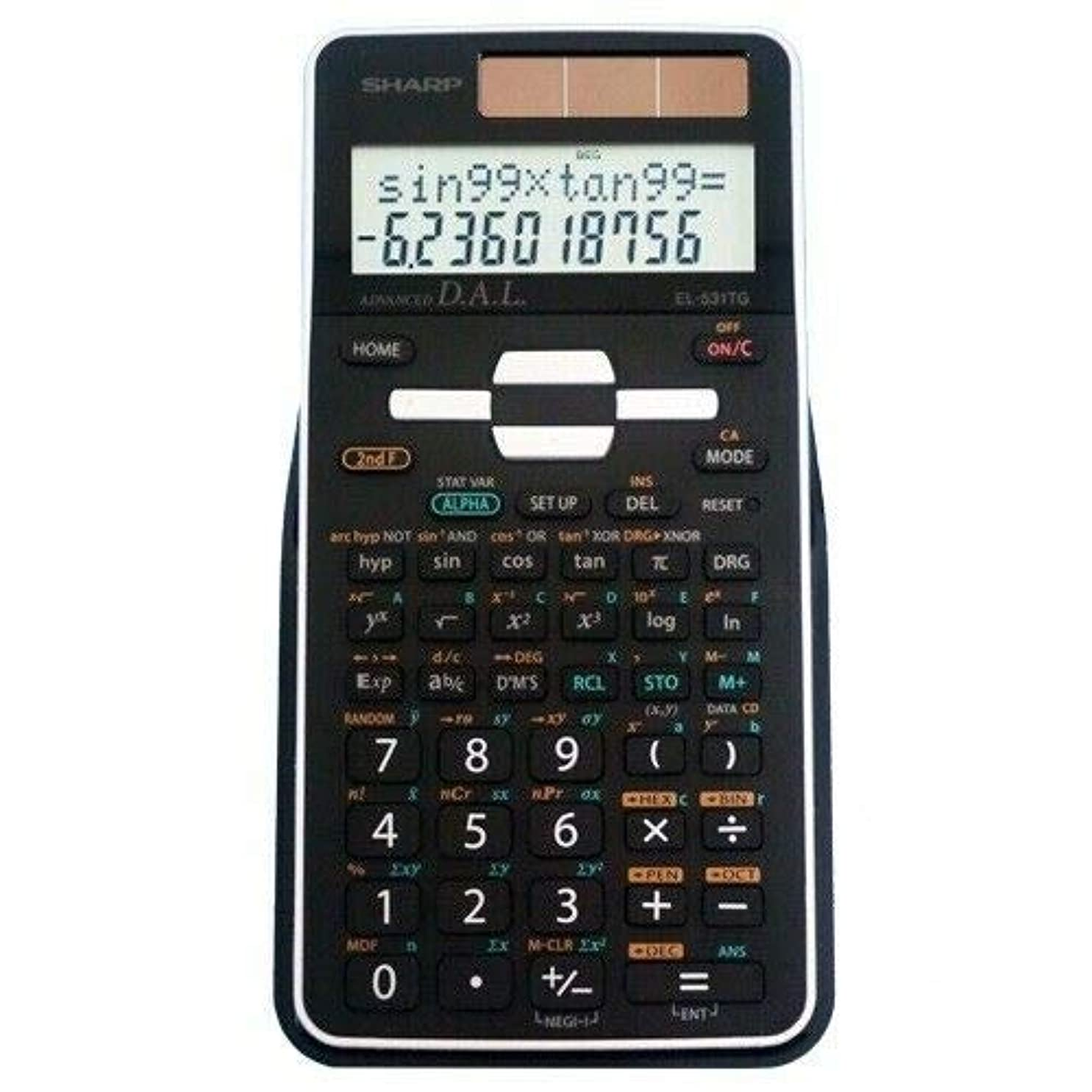 直面する灰ブルゴーニュシャープ EL-531TGB-BW 科学電卓 EL531TGB Black [並行輸入品]