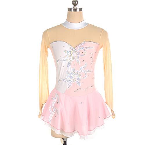CAICAIL Kinder Eiskunstlauf Kleidung Leistung Clothesadult Girls' Röcke Color Matching Eiskunstlauf Kleider,9,S