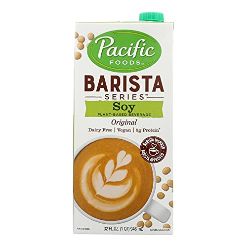 Pacific Foods Soy Milk Barista Series — Non-Dairy Beverage, 32 oz (12 Pack)