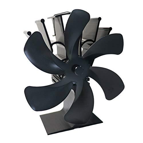 perfk Estufa de Leña Grande de 6 Aspas con Energía Térmica Ventilador Ecológico Ventilador de Leña para Chimenea Ultra Silencioso para Una Distribución Efic