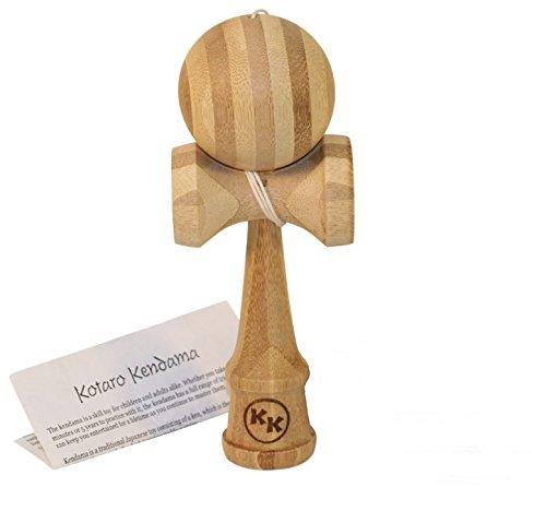 Kotaro Pro Bamboo Kendama Toy with Extra String