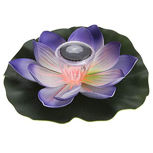 Lixada 0.1W Flor de Lotus de LED Multicolor Accionado Solar Lámpara RGB...