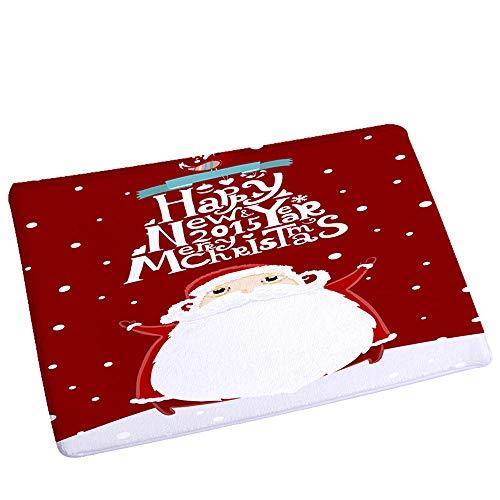Kanzd Christmas Print Doormat Xmas Kitchen Bathroom Anti-Slip Floor Mat Carpet Foot Pad Rug (E)