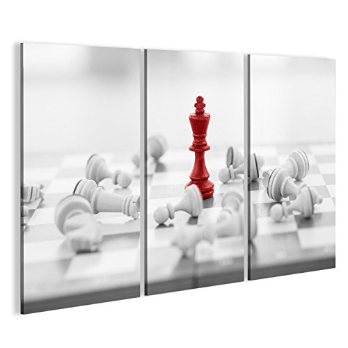 islandburner Bild auf Leinwand Schach Geschäftskonzept, Führer & Erfolg Wandbild, Poster, Leinwandbild GBV