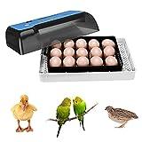 Incubatrice automatica per uova,Kacsoo-incubatrice elettronica digitale in grado di incubare 12 uova, con controllo della temperatura, rotazione automatica,visualizzazione dei giorni di incubazione