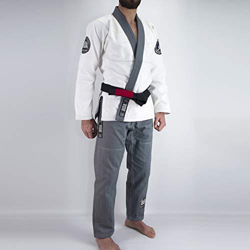 Bõa FACA Acontecer BJJ Gi - Kimono brasileño, Hombre, Color Blanco, tamaño A4
