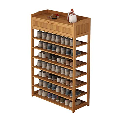 JIADUOBAO Estante de almacenamiento de pie para zapatos, contemporáneo multifunción organizador de almacenamiento masivo estante de 7 niveles, perfecto para dormitorio y armario (tamaño: A)