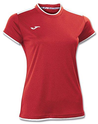 Joma Katy - Camiseta para Mujer, Color Rojo/Blanco, Talla M
