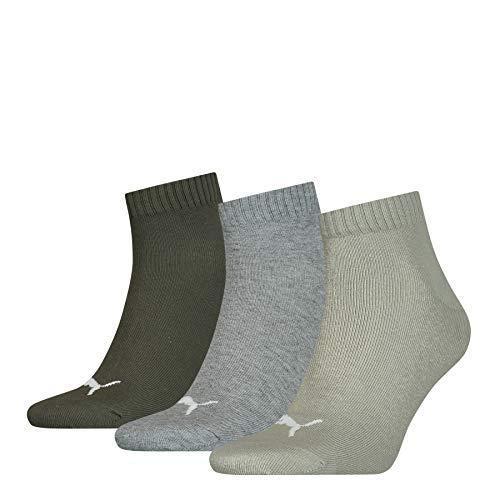 PUMA Unisex Plain Quarter Socken, Meadow Green, 39/42