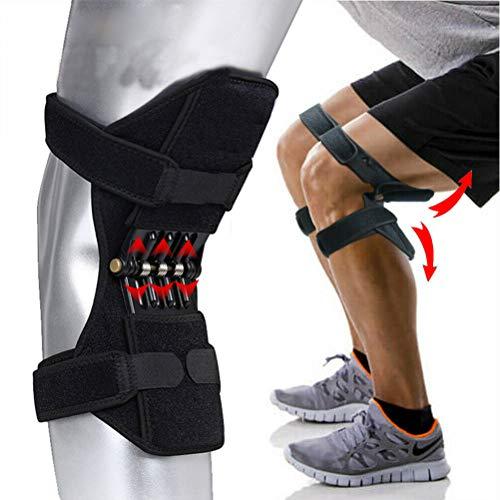 EisEyen Knie-Booster, 1 Paar Patella Booster, Joint Support Knee Pads,Gelenkstütze Knieschützer mit Kraftvolle Zugfeder für Arthritis Tendonitis Gym Workout, Running