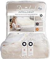 Dreamland Intelliheat fast heat up soft faux fur mattress protector double, electric blanket 190 x 1...