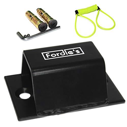 Fordle's Erdungs/Wandanker Kettenschloss Sicherungspunkt für Motorrad/Fahrrad Sicherheit - Gehärteter Stahl - Disc Lock Erinnerungskabel Hinzugefügt