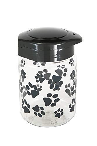 GARDMAN 2x 18cm Striped TREAT JAR Melamine w Lid PET FOOD Container Storage Jar