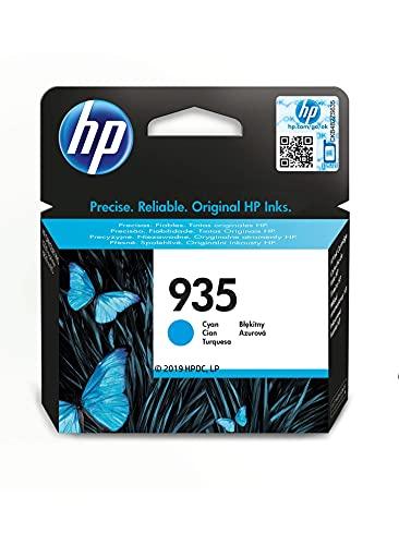HP 935 C2P20AE, Cian, Cartucho Original de Tinta, compatible con impresoras de inyección de tinta HP OfficeJet 6820; HP OfficeJet Pro 6230, 6830
