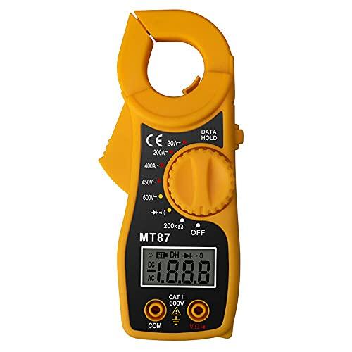 Medidor de abrazadera eléctrica digital multímetro AC DC corriente amperio probador DI MT87