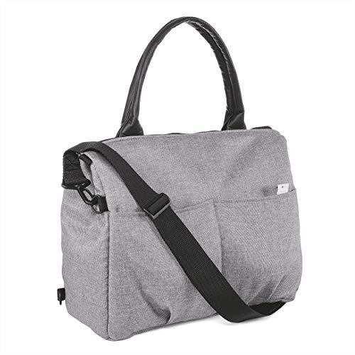 Chicco - Borsa per il cambio del pannolino, con manici, tracolla o da appendere al passeggino, colore grigio (Cool Grey)